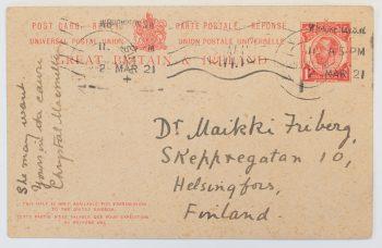 Postcard to Maikki Friberg: the progress of the women's rights movement