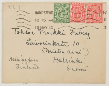 Rosalind Travers telling about Finns in London in her letter