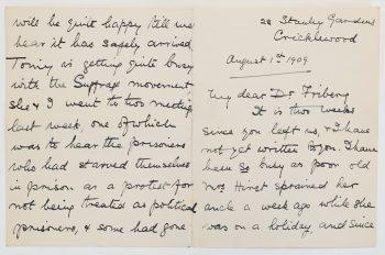 Kirje Maikki Fribergille: Suffragetteja nälkälakossa