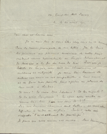 Letters to Jean Sibelius