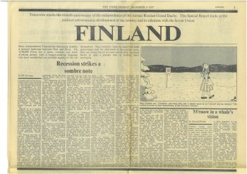 The 60th Anniversary of Finland's Independence in The Times