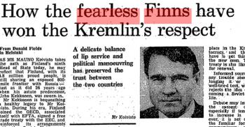 Miten pelottomat suomalaiset voittivat Kremlin luottamuksen