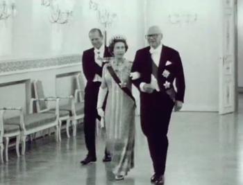 President Kekkonen Hosts a Dinner on Queen Elizabeth's Visit
