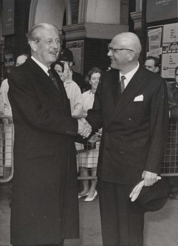 President Kekkonen meets the British Prime Minister Harold Macmillan