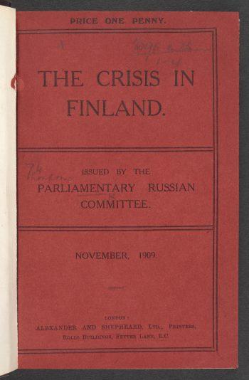 Kriisi Suomessa