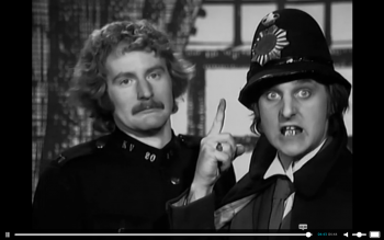 British policemen teaching English to Finns